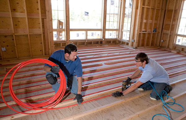 geothrmal radiant floor heating the geiler company